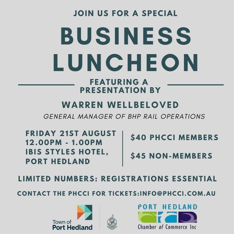 Business Luncheon - Hosted by the PHCCI & ToPH